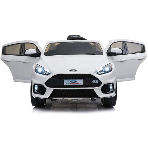 Licensed Ford Focus RS Ride on 12v Kids Car With Remote Control - White - EpicStuff