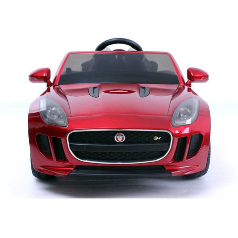 Kids Ride on Car with Remote - Licensed 12v Jaguar F-Type Car - Metallic Red - EpicStuff