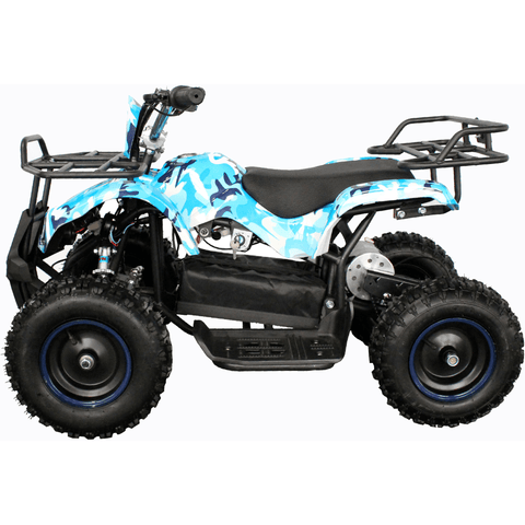 Kids Electric Mini Farm Quad Epicmoto 1000W - Blue Camo - EpicStuff