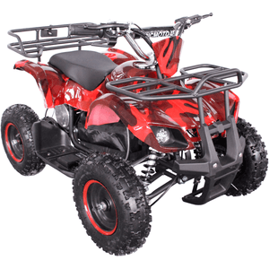 Kids Electric Mini Farm Quad Epicmoto 1000W  - Red Camo - EpicStuff