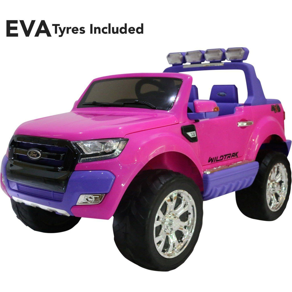 Ford Ranger Wildtrak 2017 Licensed 4WD 24V* Battery Ride On Jeep - Pink - EVA Wheels - EpicStuff