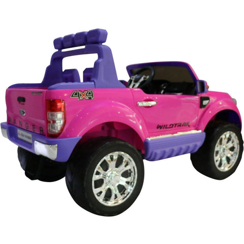 Ford Ranger Wildtrak 2017 Licensed 4WD 24V* Battery Ride On Jeep - Pink - EpicStuff