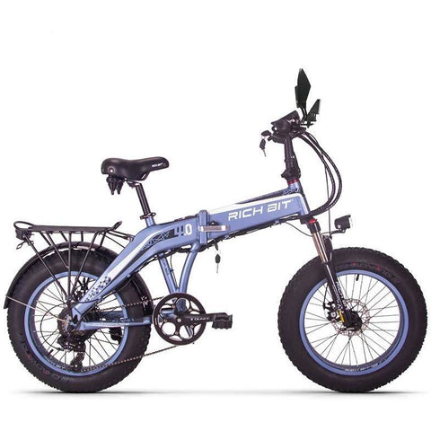 RICHBIT RT-016 500W 48V 20 inch Fat Tire Folding Electric Bike - Grey - EpicStuff