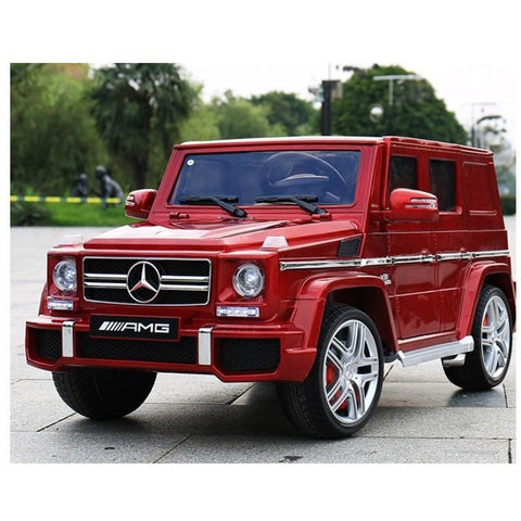 Licensed Mercedes G63 SUV 12v Electric Ride on Jeep with Remote - Metallic Red - EpicStuff
