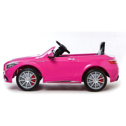 Licensed Mercedes S63 AMG Ride on 12v Electric Car With Remote Control - Pink - EpicStuff