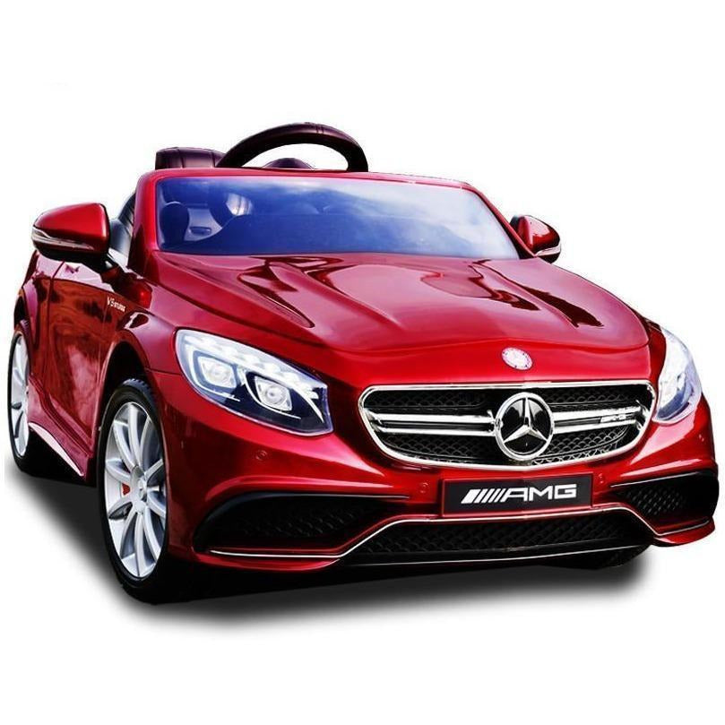 Licensed Mercedes S63 AMG Ride on 12v Electric Car With Remote Control - Metallic Red - EpicStuff