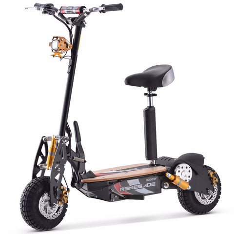 Renegade 1000W Powerboard 36V Electric Scooter - Black - EpicStuff