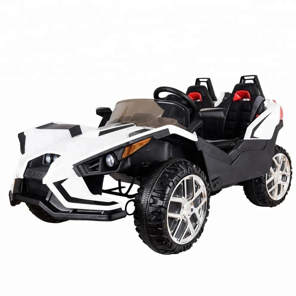 Polaais 12V Kids ride ATV Buggy with Parental RC - White - EpicStuff
