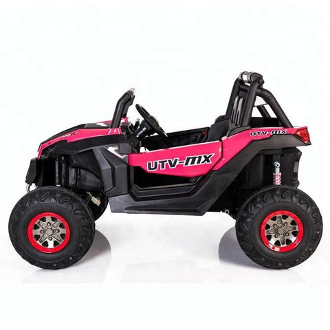 UTV MX 2000 24V* TWIN SEAT KIDS 4WD BUGGY - EVA WHEELS - PINK - EpicStuff