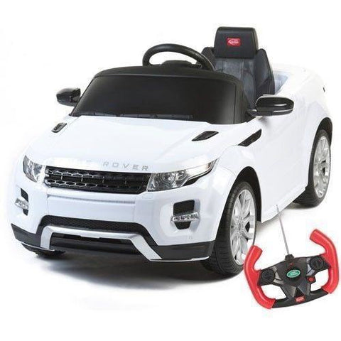 Licensed Range Rover Evoque Electric 12v Ride on Car with Remote - White - EpicStuff