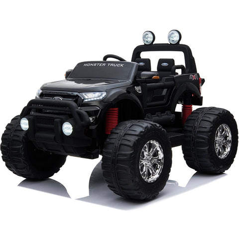 LICENSED FORD RANGER 4WD 24V* KIDS MONSTER TRUCK RIDE ON WITH EVA - BLACK - EpicStuff