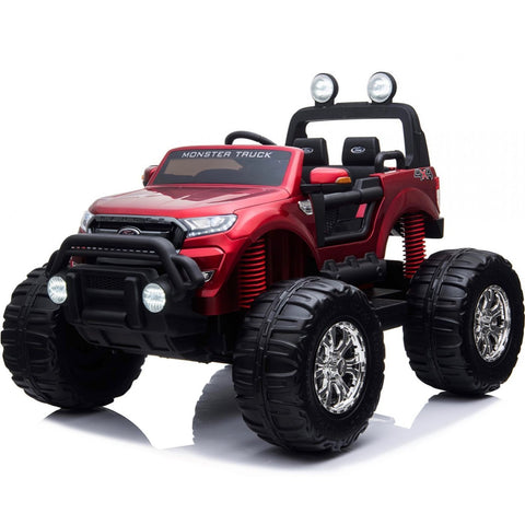 LICENSED FORD RANGER 4WD 24V* KIDS MONSTER TRUCK RIDE ON WITH EVA - RED - EpicStuff