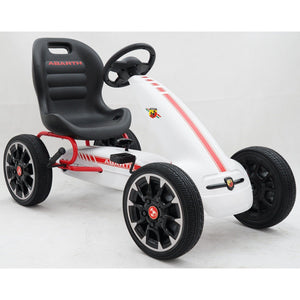 Licensed Abarth Pedal Go Kart - White - EpicStuff