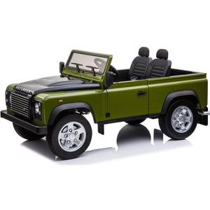 Licensed Land Rover Defender 4WD 12V Kids ride on jeep EVA Tyres - Green - EpicStuff