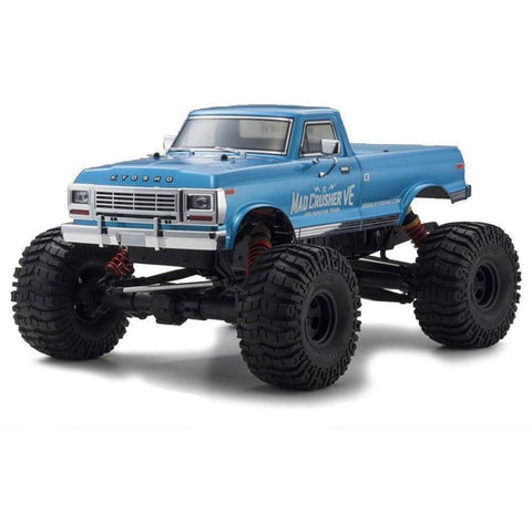 KYOSHO MAD CRUSHER VE 1:8 4WD READYSET EP - BLUE - EpicStuff