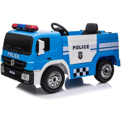 12V Children's Twin Motor Ride On Police truck - EpicStuff