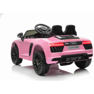 Audi R8 Spyder 12v Licensed Kids Battery Ride On Car - Leather Seats - Pink - Pre Order - EpicStuff