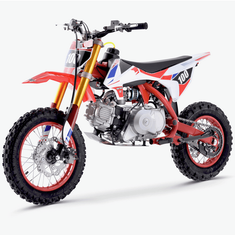 Renegade 110R 110cc 4-Stroke Petrol Dirt Bike - Red - EpicStuff