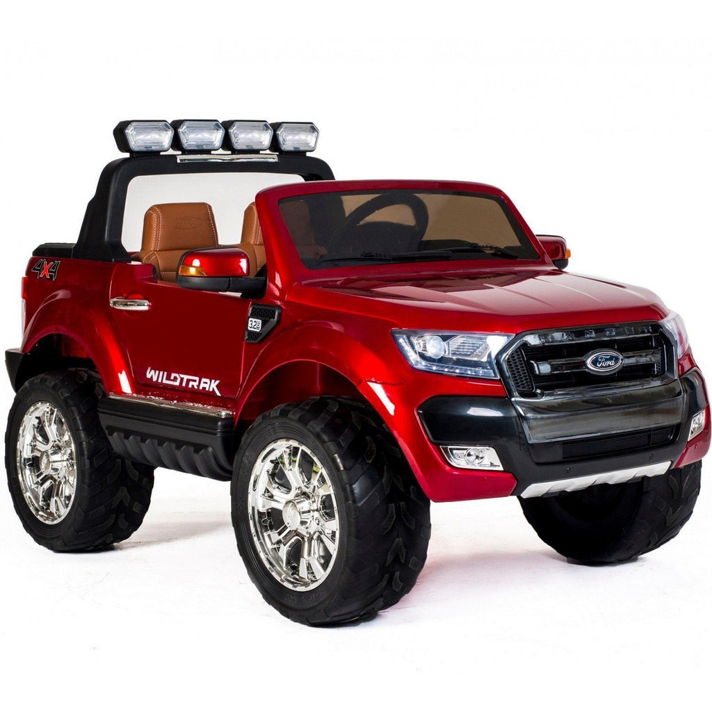Ford Ranger Wildtrak 2017 Licensed 4WD 24V* Battery Ride On Jeep - Red - EpicStuff