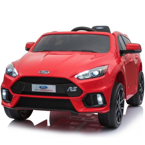 Licensed Ford Focus RS Ride on 12v Kids Car With Remote Control - Red - EpicStuff