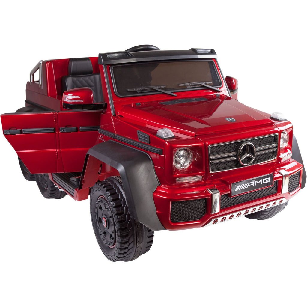 Licensed Mercedes Benz G63 6x6 Children S Electric Ride On Jeep Red