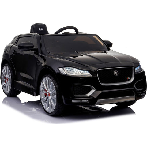 Licensed Jaguar F-PACE S 12V Ride-On Kids Battery Operated Electric Car - Black - EpicStuff