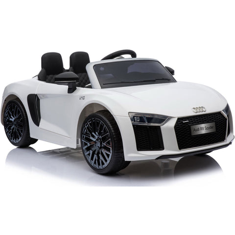 New Shape Licensed Audi R8 Spyder 12V Children's Electric Ride On Toy Car - White - EpicStuff