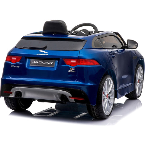 Licensed Jaguar F-PACE S 12V Ride-On Children's Battery Operated Electric Car - Blue - EpicStuff