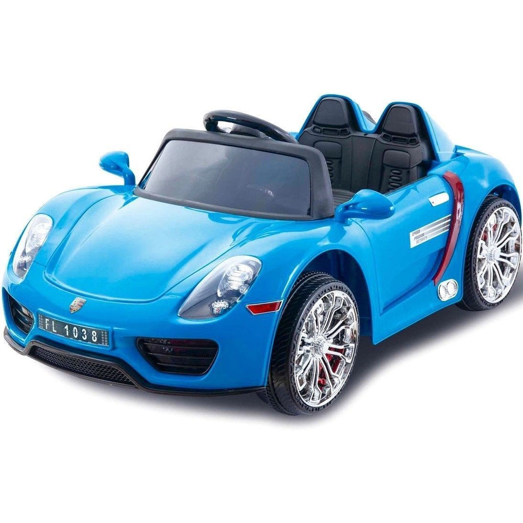 Porsche 918 Style 12V Children's Ride On Battery Operated Car - Blue - EpicStuff