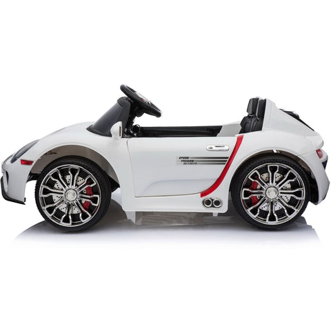 Porsche 918 Style 12V Children's Ride On Battery Operated Car - White - EpicStuff