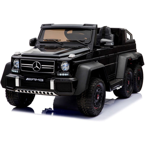 Licensed Mercedes Benz G63 6x6 Children's Electric Ride On Jeep - Black - EpicStuff