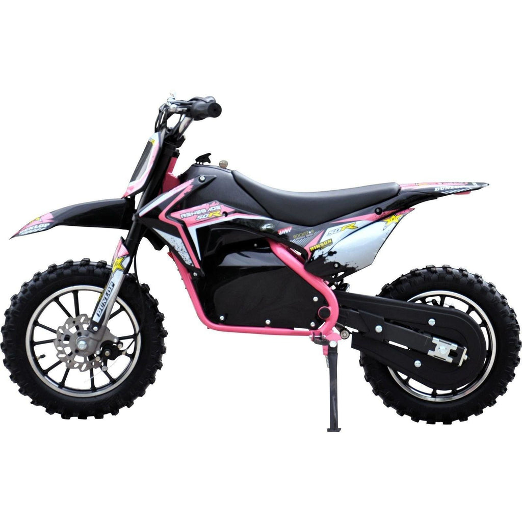 Renegade Lithium 50R 500W 36V Mini Dirt Bike - Pink - EpicStuff