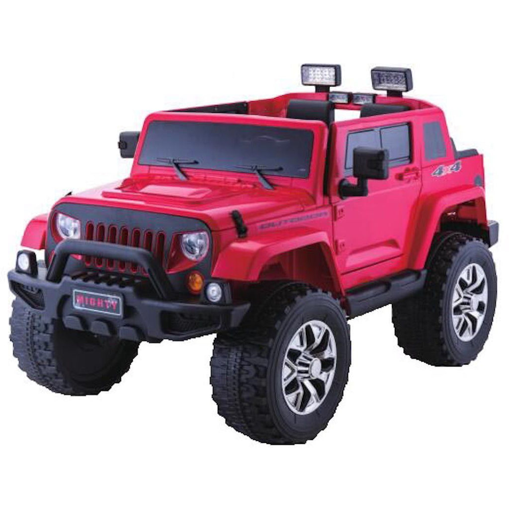 Jeep Rubicon Style 24V 4WD Children's Ride On With 2.4G Parental Remote Control - Red - EpicStuff