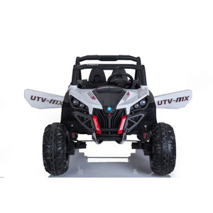 UTV MX 2000 24V* TWIN SEAT KIDS 4WD BUGGY - EVA WHEELS - WHITE - EpicStuff