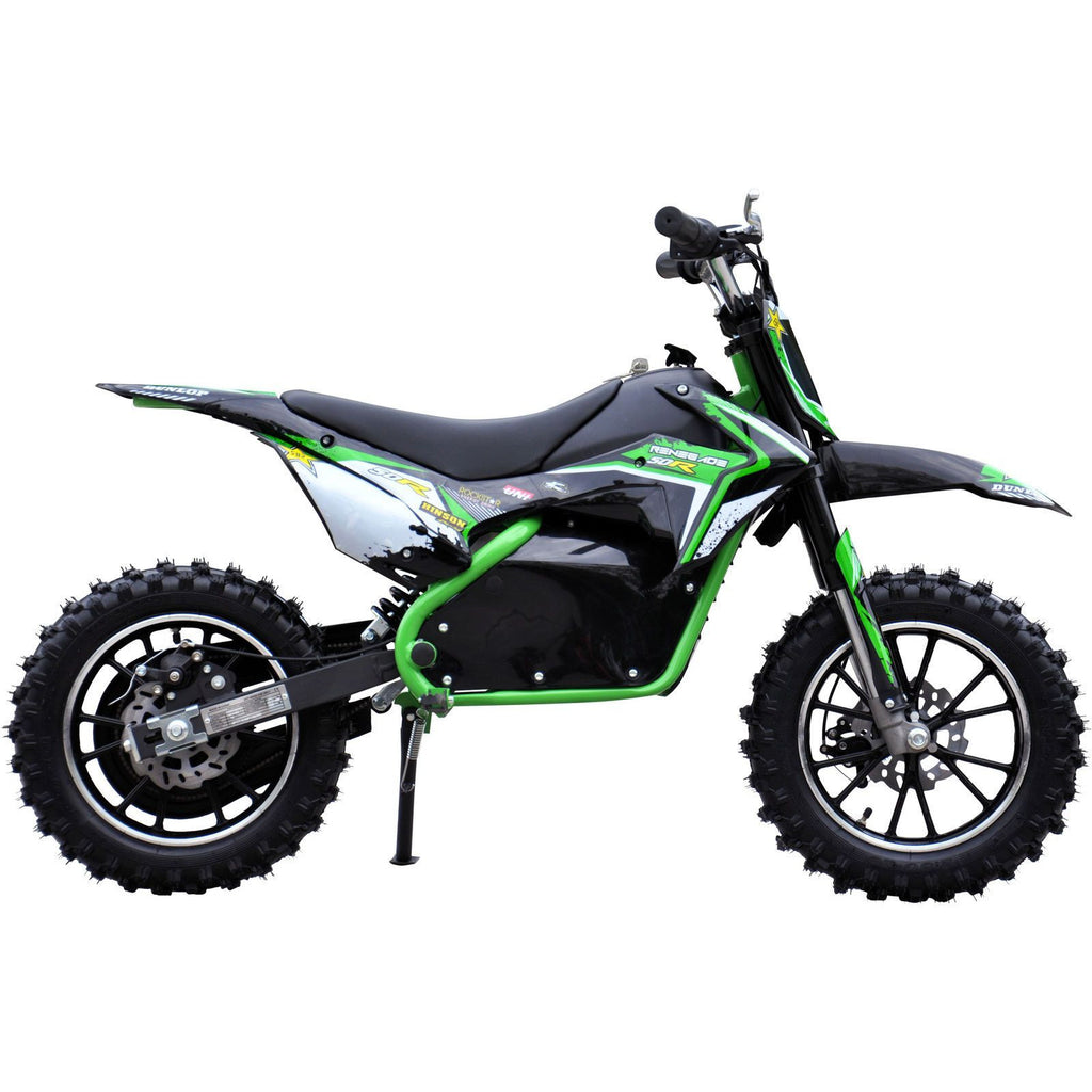 Renegade 50R 500W 36V Electric Mini Dirt Bike - Green - EpicStuff