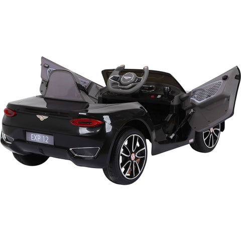 Licensed Bentley EXP12 12V* Ride-On Children's Electric Car - Black - EpicStuff