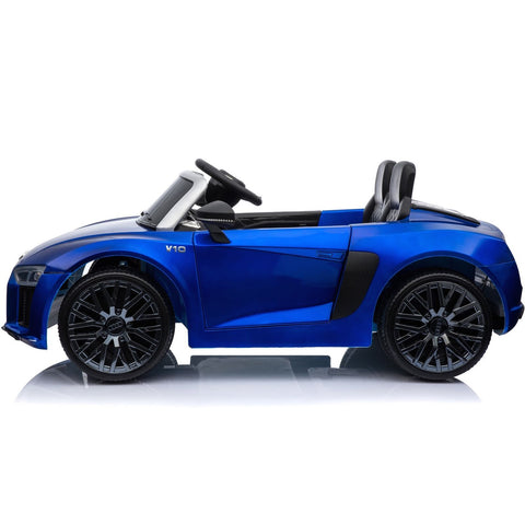 New Shape Licensed Audi R8 Spyder 12V Children's Electric Ride On Toy Car - Blue - EpicStuff