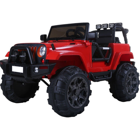 Rebo Wildfire 12v Child's Ride On Electric Jeep - Red - EpicStuff