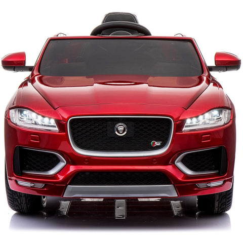 Licensed Jaguar F-PACE S 12V Ride-On Kids Battery Operated Electric Car - Red - EpicStuff