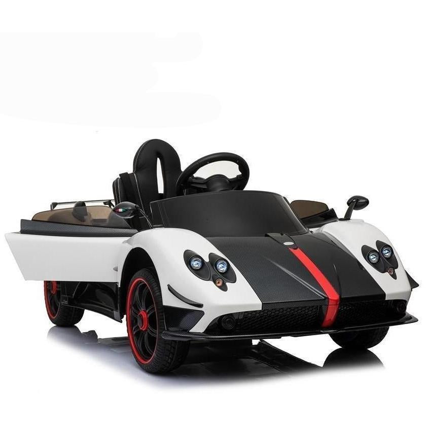 Licensed Pagani Zonda F 12v Ride on Car With Remote Control - White - EpicStuff