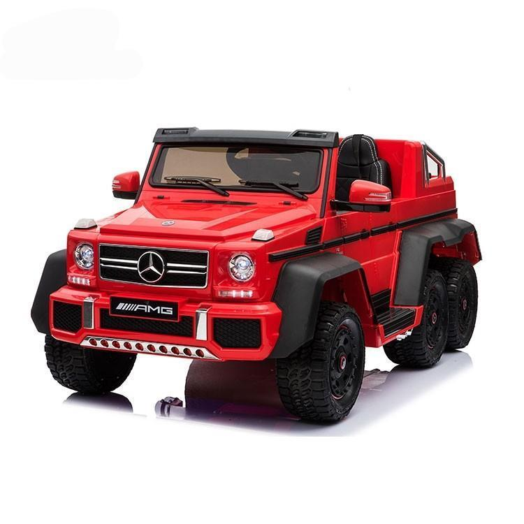 Mercedes G63 Electric Ride on Car 6x6 Jeep with Remote Control - Red - 6 wheel Drive - EpicStuff