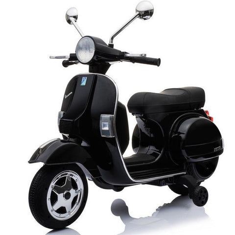 Licensed Vespa PX150 12V Ride On Children's Electric Bike With EVA - Black - EpicStuff