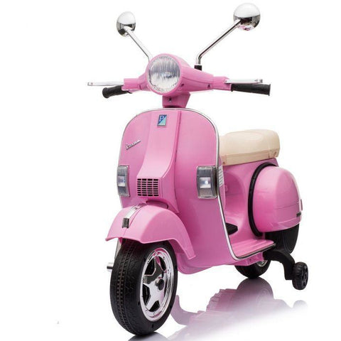 Licensed Vespa PX150 12V Ride On Children's Electric Bike With EVA - Pink - EpicStuff