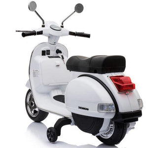 Licensed Vespa PX150 12V Ride On Children's Electric Bike With EVA - White - EpicStuff