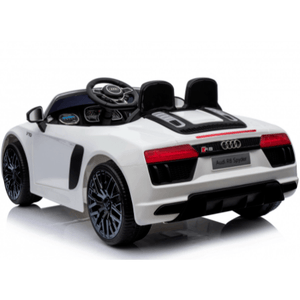 Audi R8 Spyder 12v Licensed Kids Battery Ride On Car - Leather Seats - White - EpicStuff