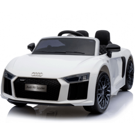 12V Licensed Audi R8 Spyder Battery Ride On Car - White - EpicStuff
