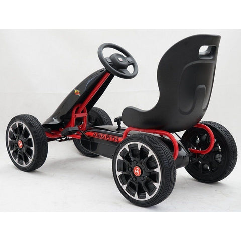 Licensed Abarth Pedal Go Kart - Black - EpicStuff