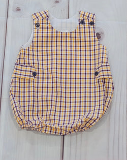 Purple & Gold Plaid Bubble