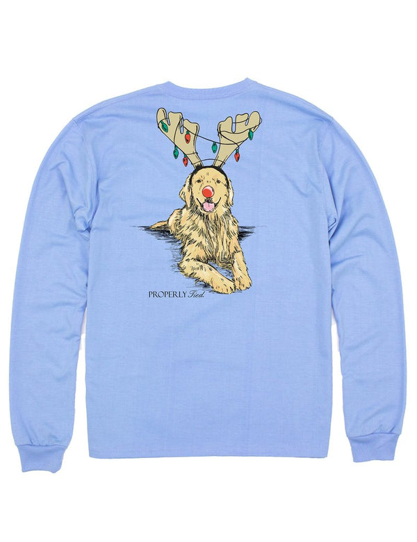 Golden Holiday Long Sleeve Tee