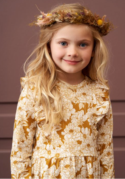 Golden Floral Dress